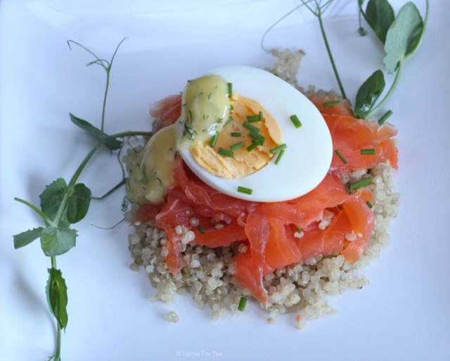 Smoked Salmon & Egg Photo bw