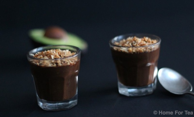 Avocado choc mousse