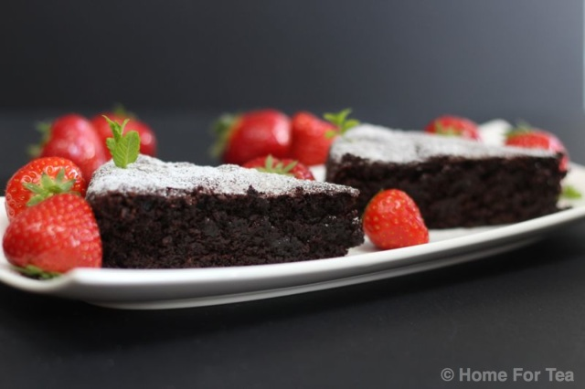 Choc olive oil cake 1